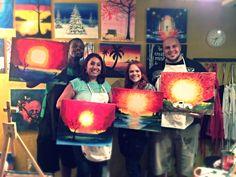 Your Art Party wine & paint Phoenix, AZ hot sun