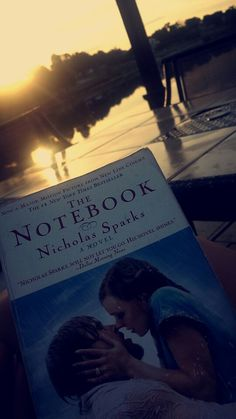 The notebook first thing in the morning sitting by the lake ♡