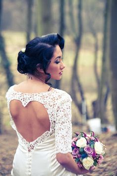 Heart back lace gown