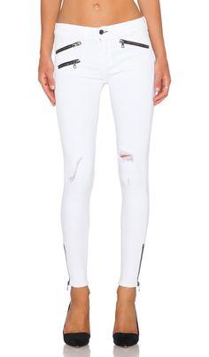 rag & bone/JEAN RBW Crop in Bright White Distressed | REVOLVE