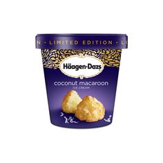 Häagen-Dazs® - Products - Coconut Macaroon ❤ liked on Polyvore featuring food