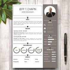 Make your profile stand out with our perfect resume templates. Get a template design to create the perfect resume for you. So you can get more job interviews and land that job faster. It is impossible to find a good resume. Resume Designs are outdated and ugly. They do not work on a CV. #resume #resumedesign