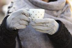 VINTAGE 80s Gloves Elegant Grey Fall Winter Everyday by ULITA