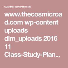 www.thecosmicroad.com wp-content uploads dlm_uploads 2016 11 Class-Study-Planner.pdf