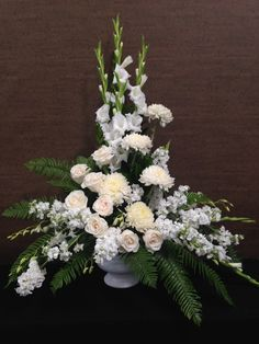 Send Tropical White in Santa Fe Springs, CA from Le Fleur Floral Couture, the best florist in Santa Fe Springs. All flowers are hand delivered and same day delivery may be available. Funeral Floral Arrangements, Tropical Flower Arrangements, Church Flower Arrangements, Artificial Flower Arrangements, Beautiful Flower Arrangements, Beautiful Flowers, Artificial Flowers, Altar Flowers, Church Flowers