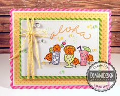 DeNami Design stamps, Lawn Fawn dies & ink & twine, MFT papers, Pretty Pink Posh sequins, Copics {ValByDesign, 2015}