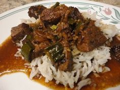 Beef Tips over Rice - Judy Laquidara, Patchwork times Beef With Mushroom, Mushroom And Onions, Beef Tips Over Rice, Pressure Cooker Recipes, Pressure Cooking, Slow Cooker, Beef Dishes, Pork Recipes, Entrees