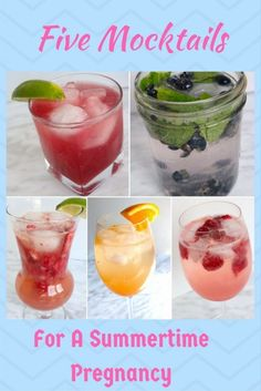 5 healthy and refreshing mocktails to get you through a summer pregnancy!