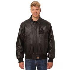 Los Angeles Dodgers JH Design Tonal Leather Jacket - Black - $600.00