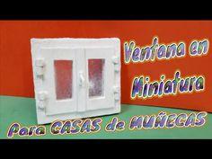 Ventana en Miniatura, para las casas de Muñecas, Diy - YouTube