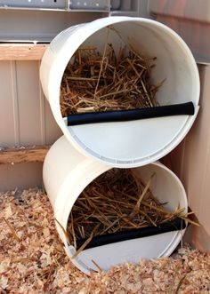 5 Recycled Chicken Nesting Boxes