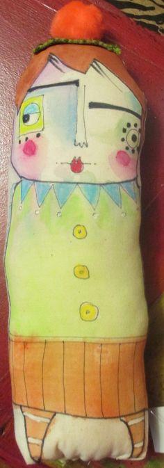 Samantha... a little handpainted stuffed doll. $20.00, via Etsy.