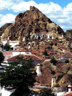 Barrio de las Cuevas, Guadix, Granada, Andalucia, España
