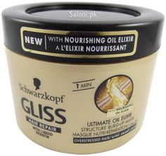 SCHWARZKOPF GLISS HAIR REPAIR ULTIMATE OIL ELIXIR STRUCTURE BUILD-UP MASK 200 ML Saloni™ Health