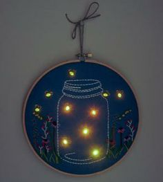Nightlight Embroidered Wall Art