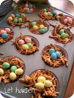 Butterscotch Nest Candy Easter Recipe. EASY & Fun Snack To Make On Easter With Your Family... Just let It Dry, Crunch 'Em Up, And ENJOY!