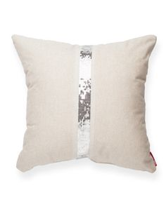 Decorative Square Cross Sequin Throw Pillow//