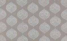 White on Gray Isabelle  Madeline Weinrib organic blockprint fabric