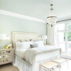 Blue Bedroom Ceiling, Transitional, Bedroom