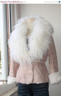 VALENTINE SALE Faux Fur Jacket Faux Fur Coat Faux by TequilaCloset, $64.40
