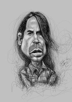 Karikaturisti: Anthony Kiedis Red Hot Chili Peppers