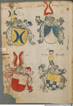 Tirol, Anton: Wappenbuch Süddeutschland, Ende 15. Jh. - 1540 Cod.icon. 310  Folio 78v