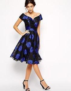 ASOS CHI CHI London Arianna printed blue rose organza dress NWT NEW US 2 UK 6 #CHICHIASOS #Formal