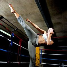 Kick Butt Cardio- Killer Kickboxing Workout. 8 awesome drills to torch fat and tone every inch.