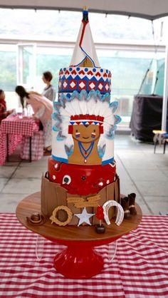 Cowboy and Indian cake