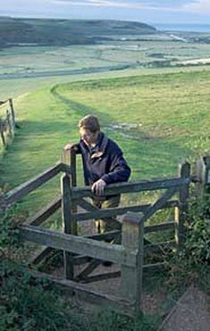 "Cotswolds area kissing gate... we'll be going through lots.  ""not for actual kissing."""