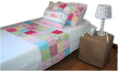 """This single bed duvet cover & accessories is from our """"Ragdoll"""" linen range. Cot Linen in this theme also available. Exclusively designed and manufactured by Tula-tu Baby Linen (RSA). Also find and like us on facebook"""
