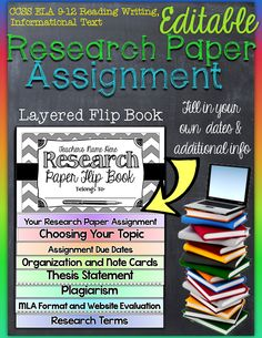 Research Paper Assignment: Editable Interactive Layered Flip Book ($)