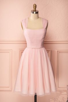 Cute pink tulle short prom dress, cute homecoming dress