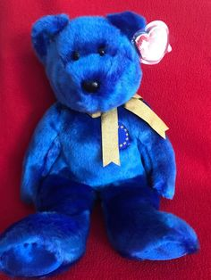 TY Beanie Buddy UNITY the Union Bear Europe Exclusive 15 MWMT Vintage Toy 04a53f71a9c4