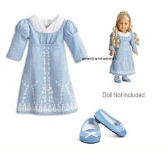 American Girl Caroline's Birthday Dress Outfit for Dolls Party Shoes NEW NIB