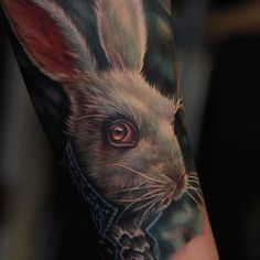 Close up of last nights piece. Start of a full Alice in Wonderland arm sleeve! Hand Tattoos, Sleeve Tattoos, Cool Tattoos, Chest Tattoo, Tattoo Ink, Alice In Wonderland Rabbit, Wonderland Tattoo, Johnny Depp Movies, Fear And Loathing