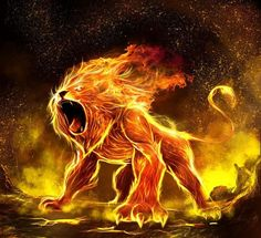 creature lion feu                                                       …