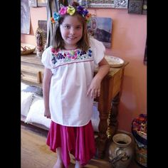 Childrens Mexican Puebla Blouse 46287733ee9
