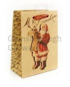 Victorian Santa Gift Bag, Small @ gainsboroughgiftware.com
