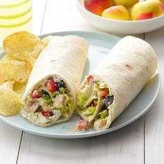 Chicken Wrap Recipes, Chicken Wraps, Crack Chicken, Romaine Salad, Caesar Salad, Chicken Caesar Wrap, Recipes With Flour Tortillas, Tortilla Recipes, Leftover Rotisserie Chicken