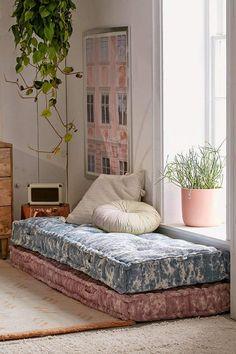 Urban Outfitters Rohini Textured Daybed Cushion Urban Outfitters #bohohome #floorpillow #uo #bohohomedecor #boho #ad #globalliving #homedecor #dormdecor