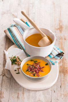 Cream of Autumn - Pumpkin Cream with Ham Crisps