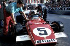 Ferrari 312B2 auto # 5 Clay Regazzoni |  1971 Monaco GP