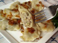 Pierogi oszukańce - kuchnia podkarpacka Polish Recipes, Delicious Dinner Recipes, Tortellini, Ravioli, Oven Baked, Dumplings, Baking Recipes, Nom Nom, Pierogi