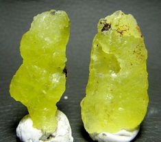 6 Grams Rare Bright Yellow Brucite Crystal lot of 2 Specimens From BaluchistanPK