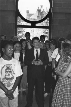 Images from the past: 1990, Actor Dudley Moore visits National Museum of African Art #tbt #africanartat50 #africa @smithsonian