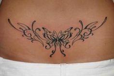 Tatuajes para Mujer: Diseños en la zona inferior de la Espalda