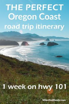 The Perfect Oregon Coast Road Trip Itinerary - - Oregon coast road trip itinerary—From treasure hunts to cheese tasting. This post has everything you need for a week-long Oregon coast road trip on hwy Oregon Travel, Oregon Coast Roadtrip, Oregon Camping, Oregon Beaches, Oregon Vacation, Oregon Road Trip, West Coast Road Trip, Beach Camping, Tent Camping