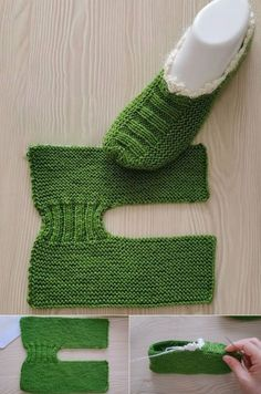 Knitting or crochet sneakers to stay at home Knitting Socks, Knitting Stitches, Knitting Patterns, Crochet Patterns, Crochet Granny, Knit Or Crochet, Knitted Slippers, Hand Embroidery Stitches, Sewing Clothes