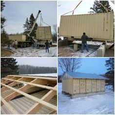 Building using shipping containers
